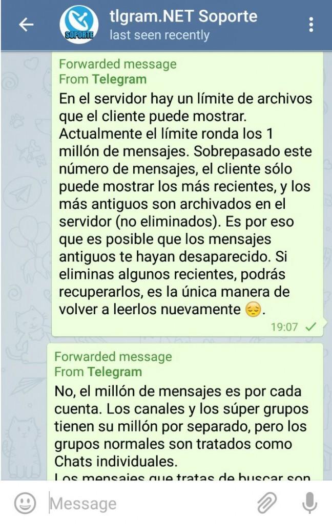 telegram millon mensajes