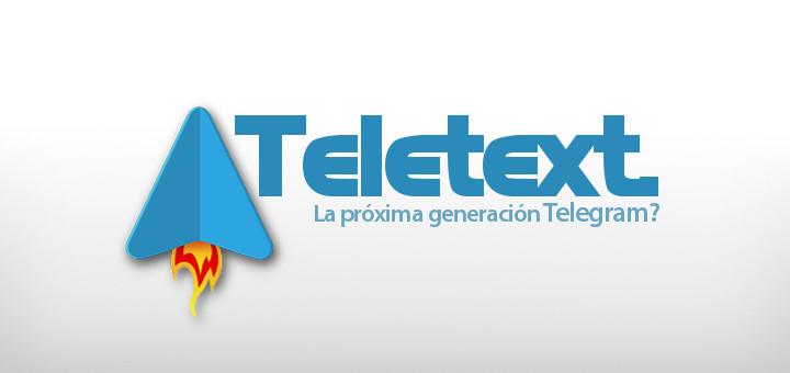 Teletext, clienete no oficial de Telegram
